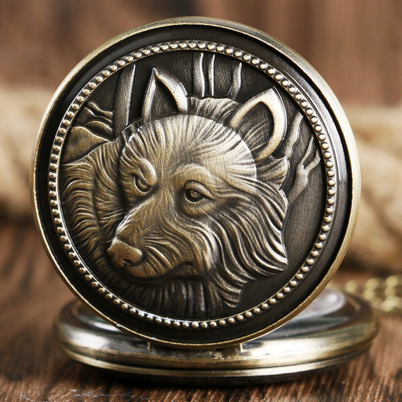 Antique Wolf Pocket Watch