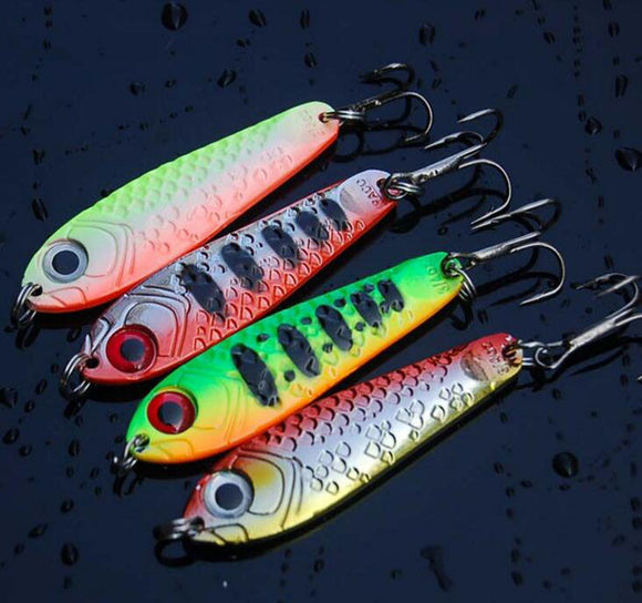 4Pcs Metal Reflective Lead Fish Fishing Lure 6.5cm 21g