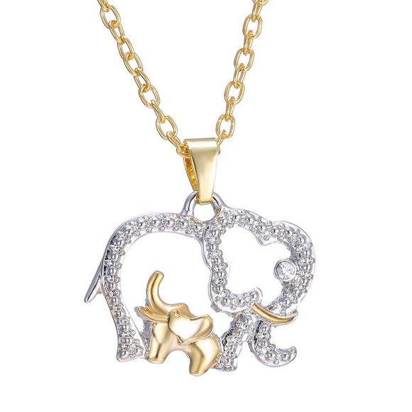 Fashion Big Elephant with Baby Necklaces