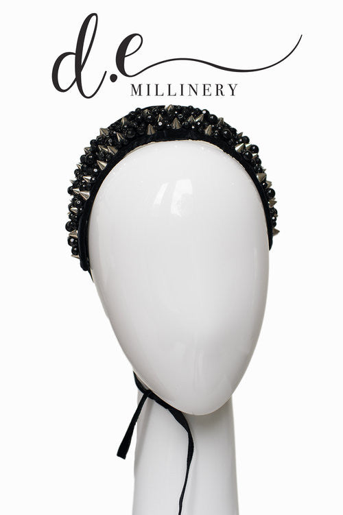 CRYSTAL AND SPIKE BEADED CROWN ~ Exclusive d.e Design