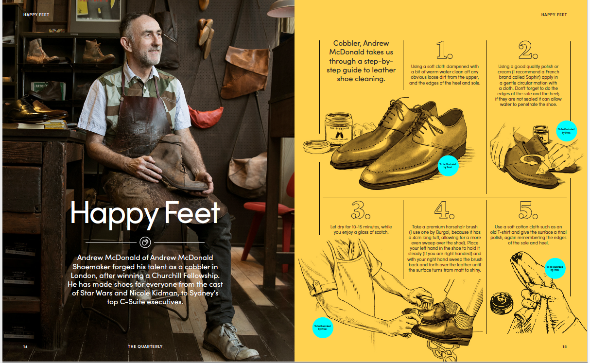 Happy Feet Quay quarterly magazine