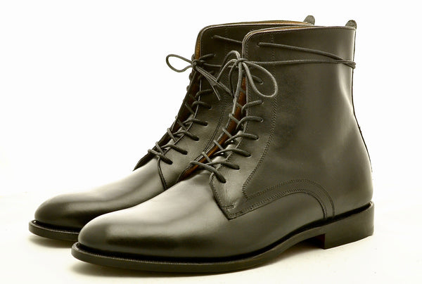 calf skin leather boot