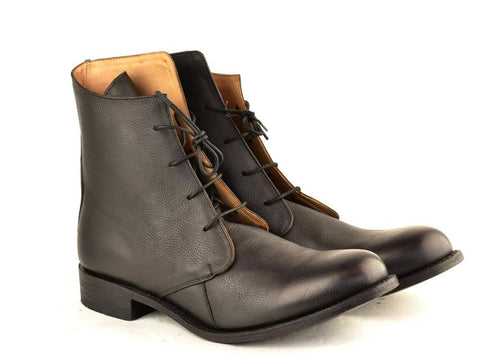 mens derby boot black calf