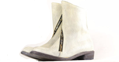 Spiral Zip Boot  |  Dirty white