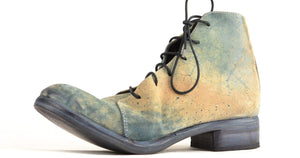 Asym derby boot  |  Reverse blue