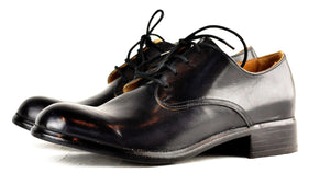 Asym derby  |  Black cordovan