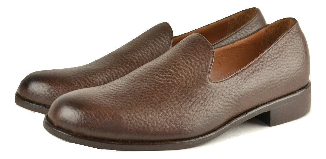Loafer  |  Choc pebble grain calf