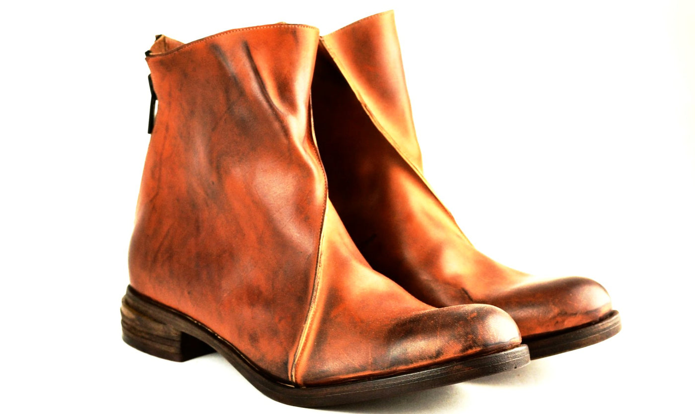 Zip Back Boot  |  Cognac cordovan