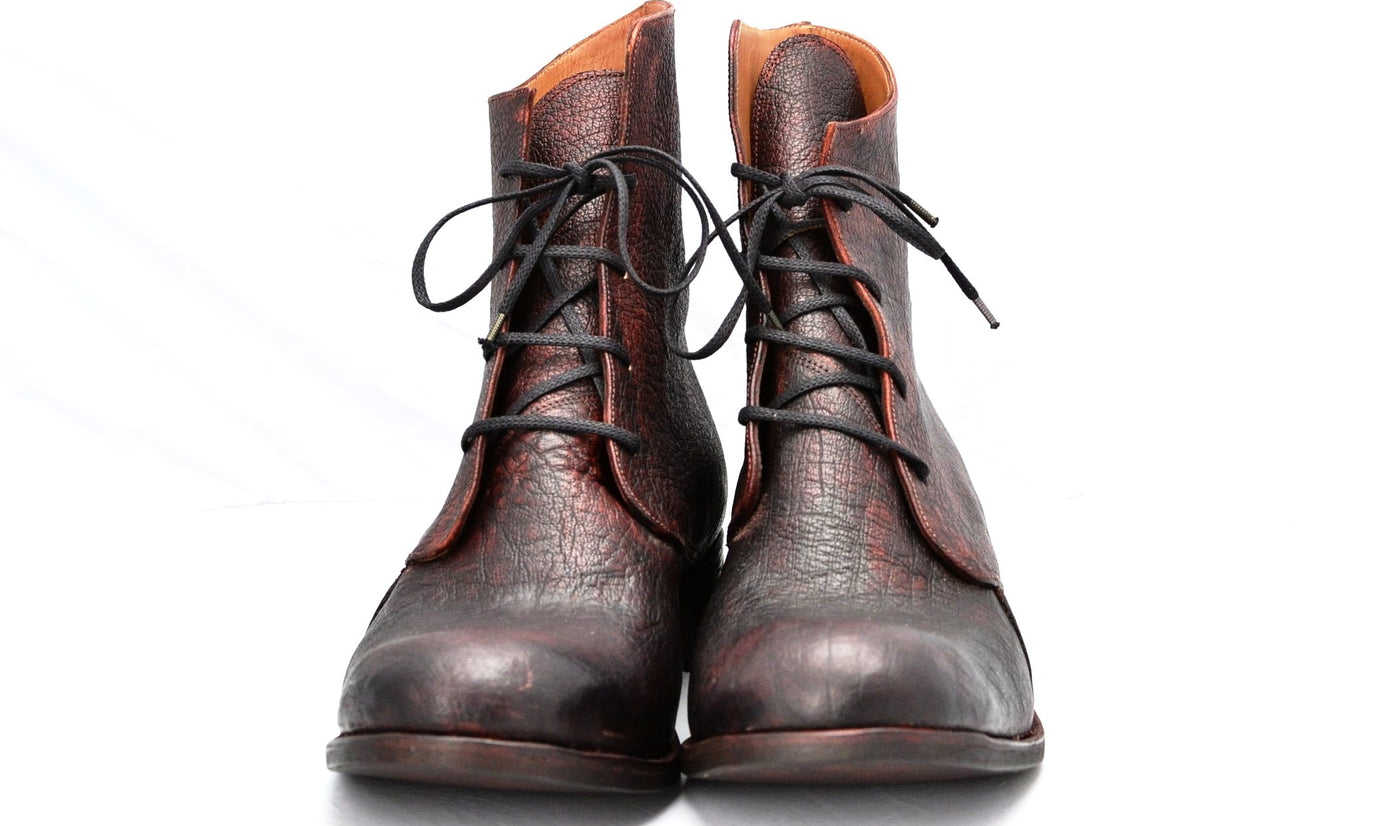 Derby Boot | Bison burgundy overdye