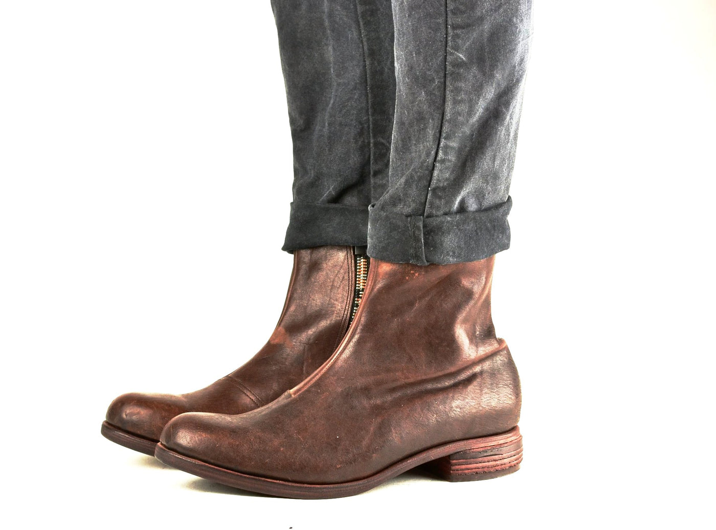 Zip Sided Boot  |  Burgundy Mustang