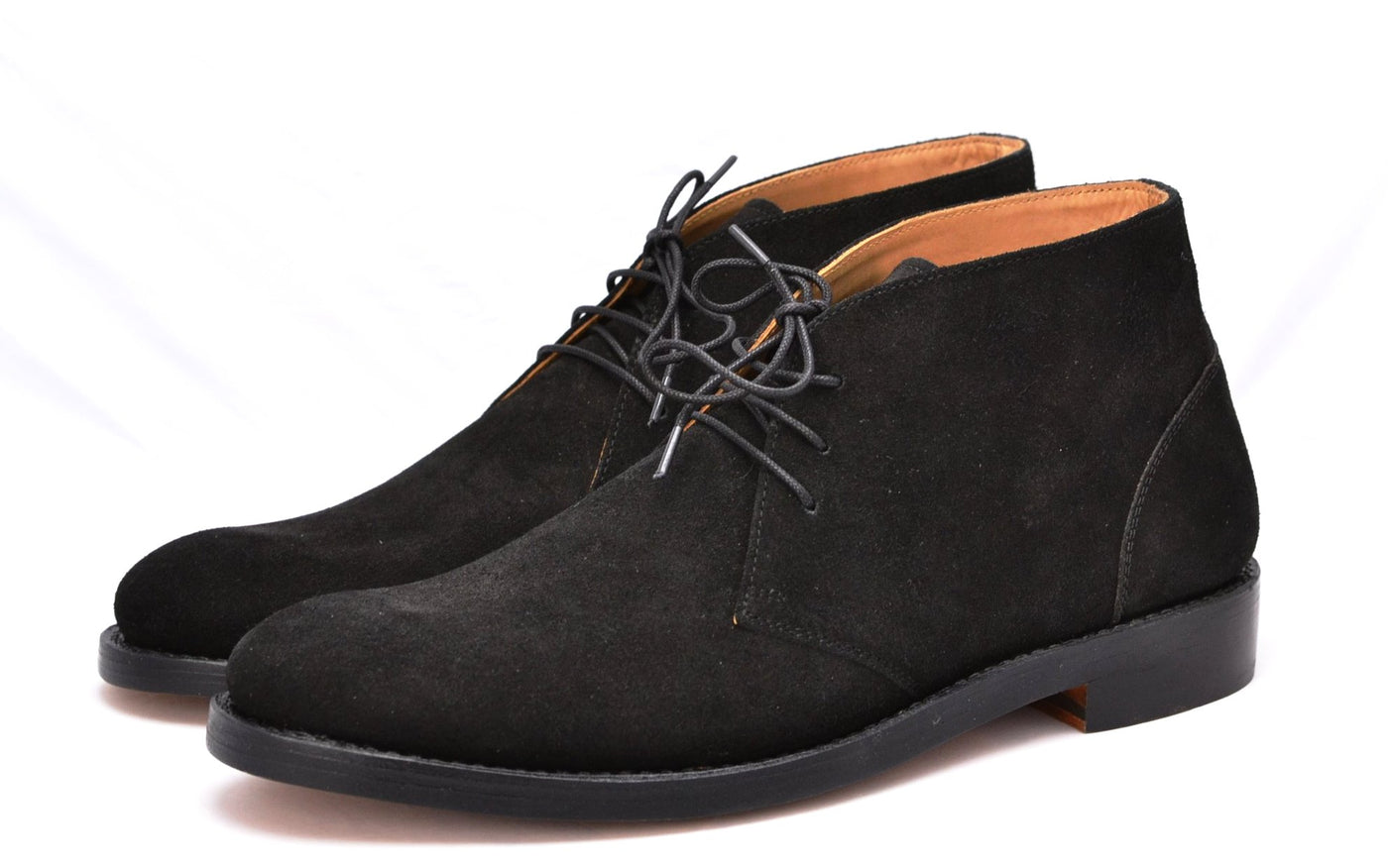 Arden boot  |  Black calf suede