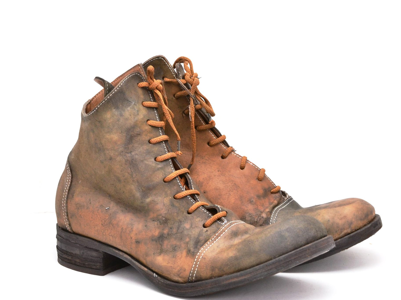Fogey boot  |  Reverse cordovan stain