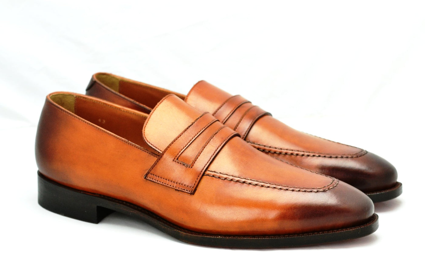 Apron loafer | calf | burnished tan