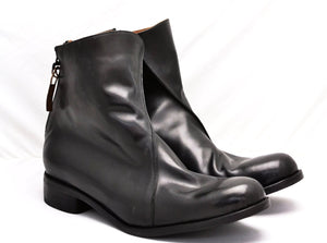 Zip Back Boot  |  Black calf