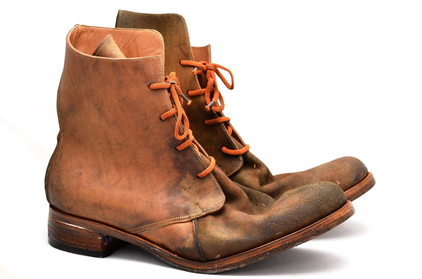 Handmade mens boots made from reverse cordovan leather in Sydney Australia.