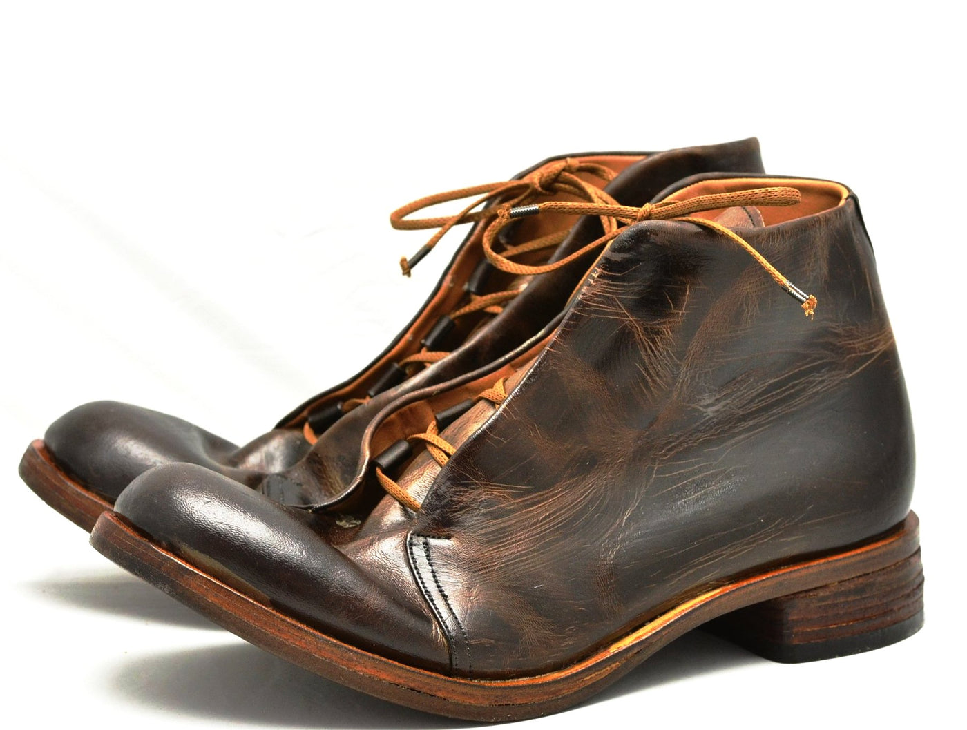 Asym derby boot  |  Burnt choc cordovan