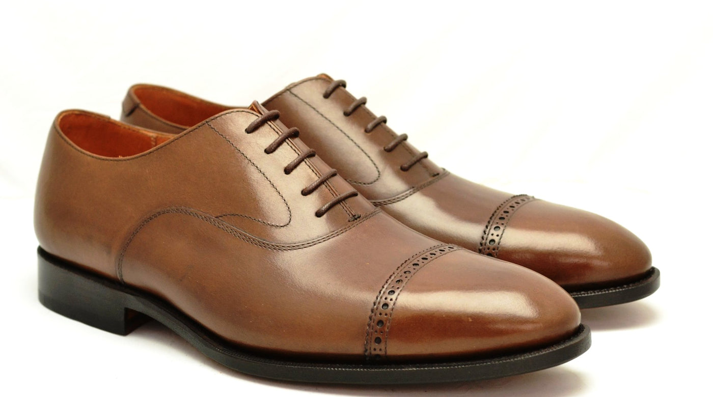 Oxford toecap brogue |  Brown  | Calf