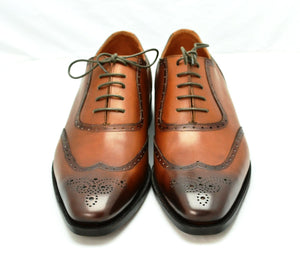 wingtip oxford brogue| burnished tan | Calf