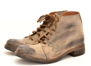 Asym derby boot  |  rev choc cordovan