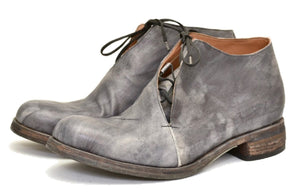 Half boot blind lace |  grey stain calf