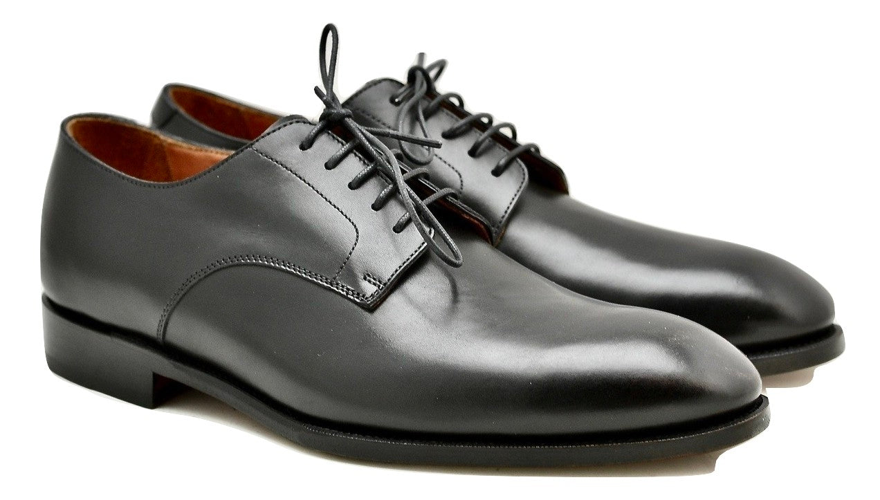 Derby shoe | Black box calf wide fit