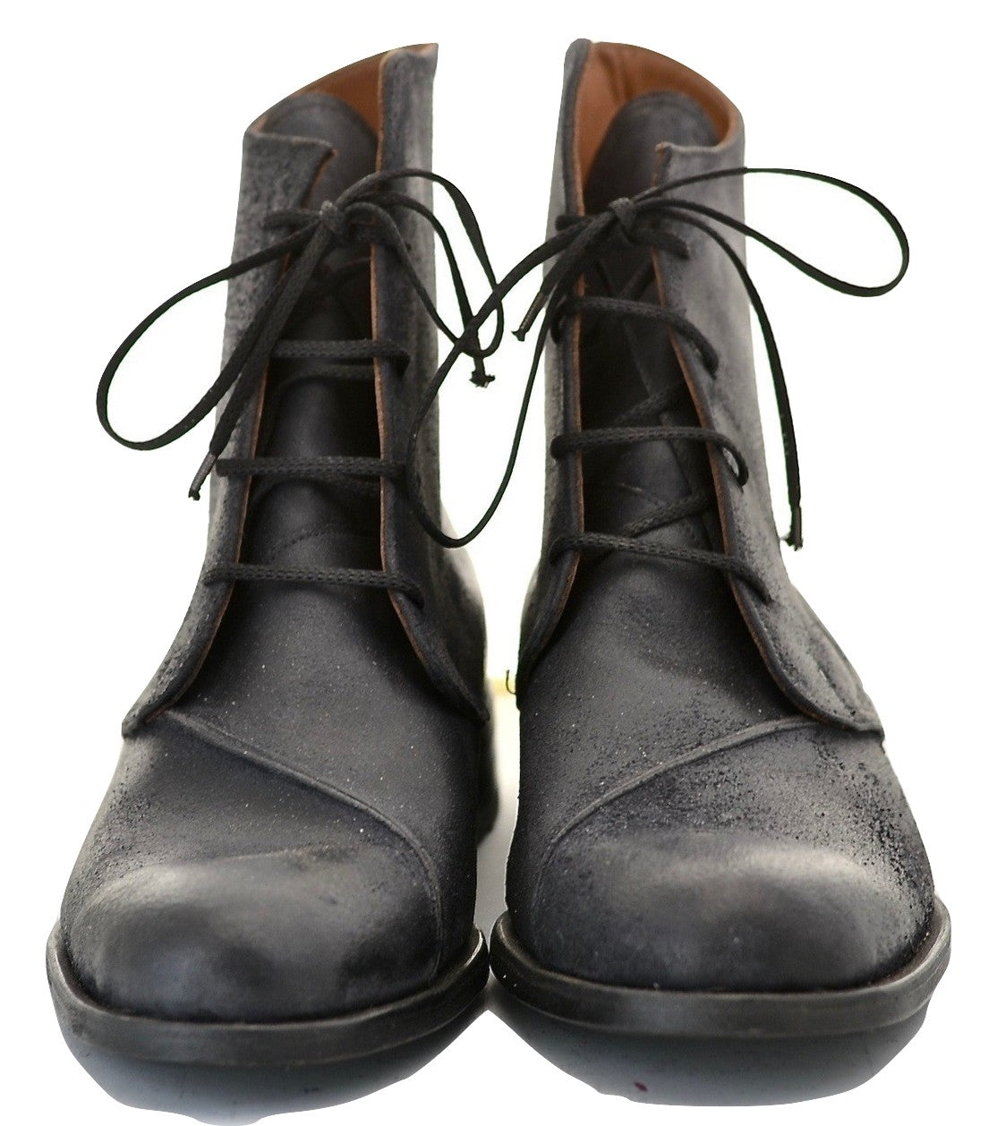 Derby Boot | waxy black reverse cordovan