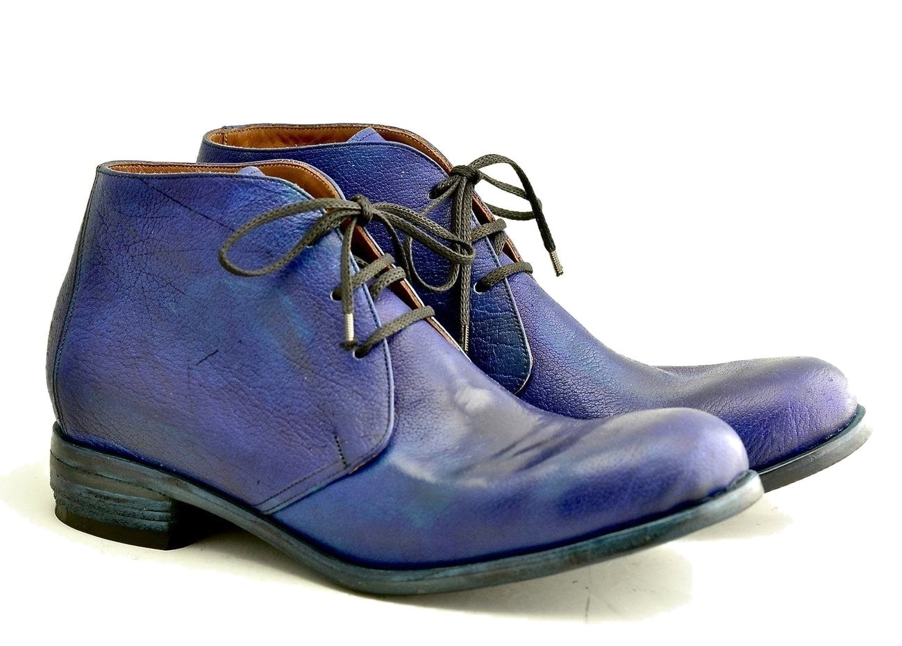 Desert Boot  |  Midnight blue bison