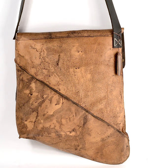 Shoulder Bag Reverse  |  over dye bison