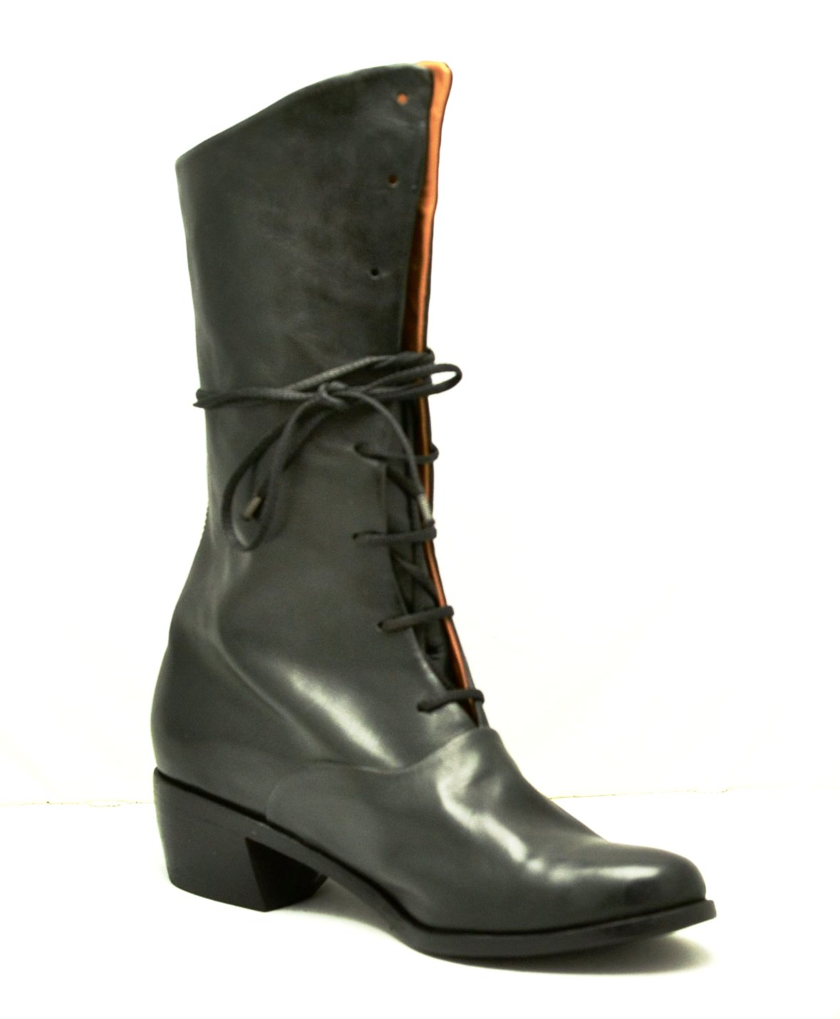 Tall Oxford Boot |  black calf