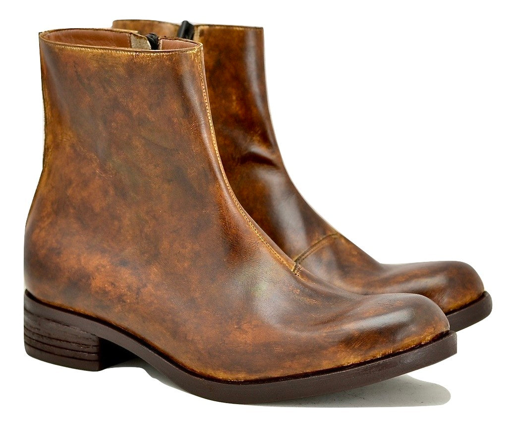 Copy of Zip Sided Boot  | Mahogany calf