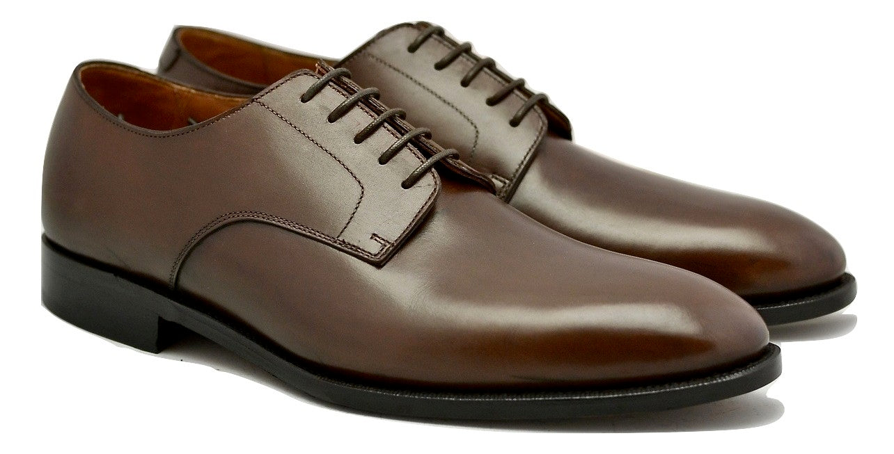 Derby shoe | mocha box calf wide fit