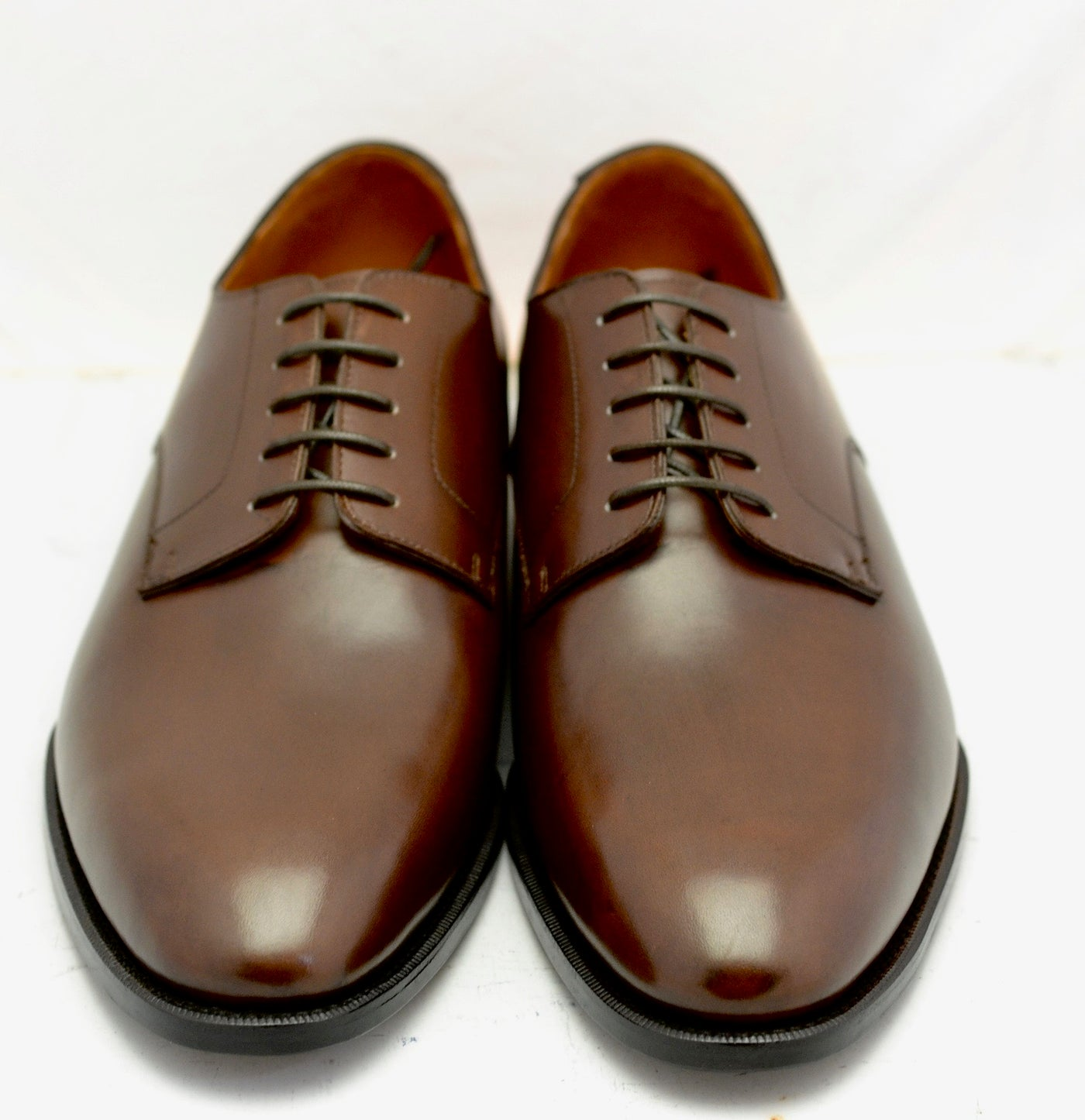 Derby shoe | dark brown box calf wide fit