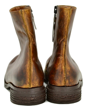 Zip Sided Boot  | Mahogany calf