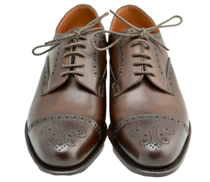 Toe cap derby brogue  | mocha | box calf