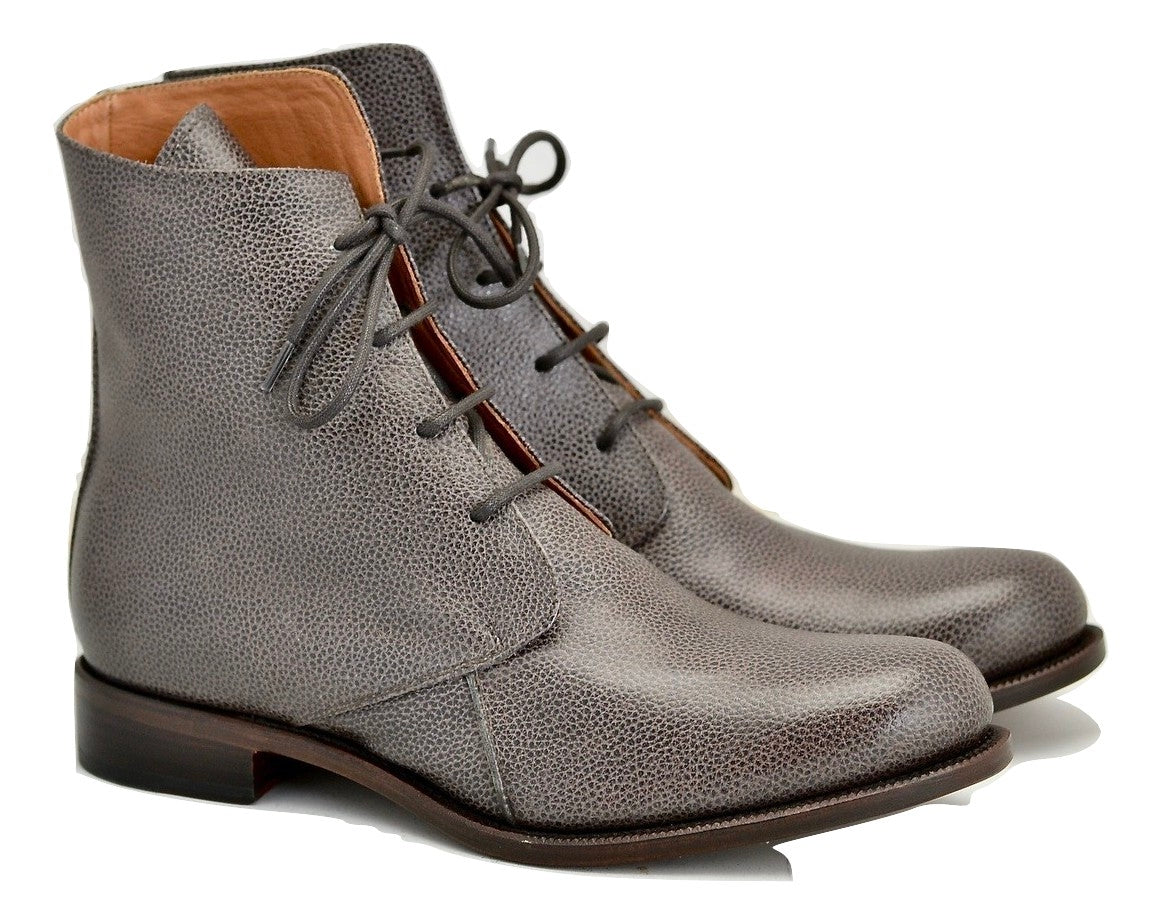 Derby Boot  | Damson pebble grain  | Calf