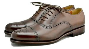 Oxford brogue | dark brown  | box  Calf