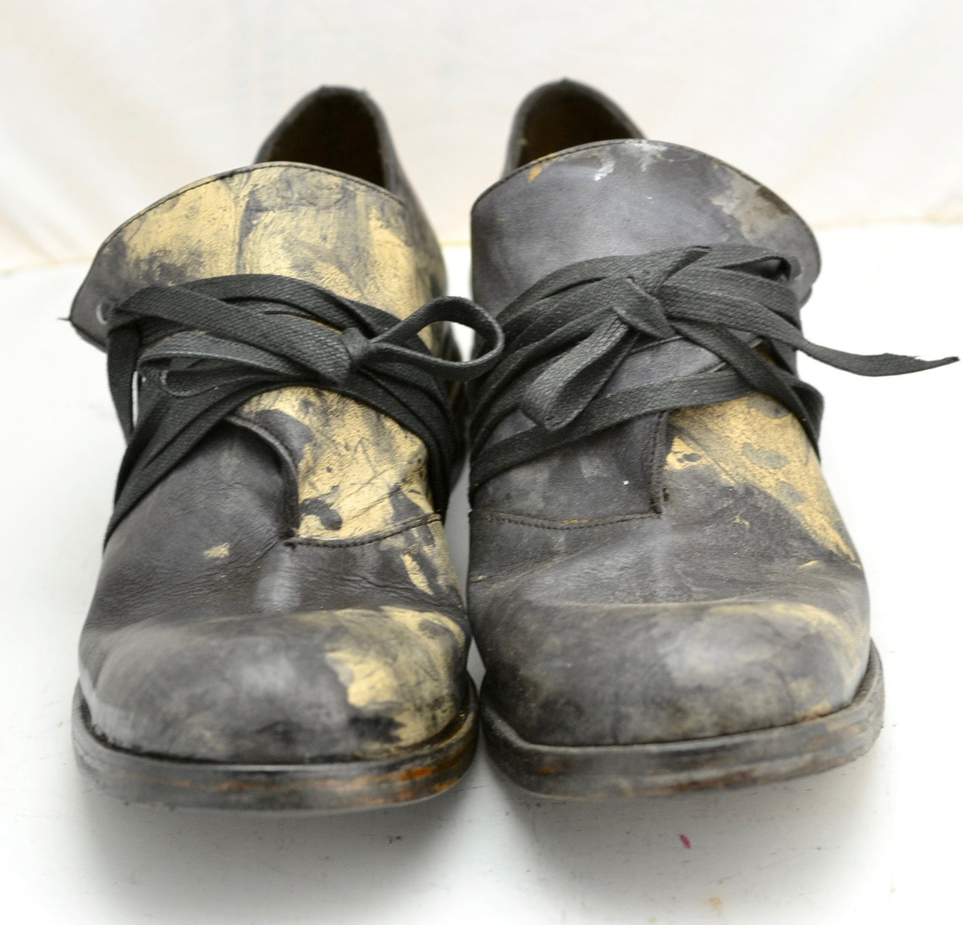 Foldover Shoe  | Black oil stain on calf
