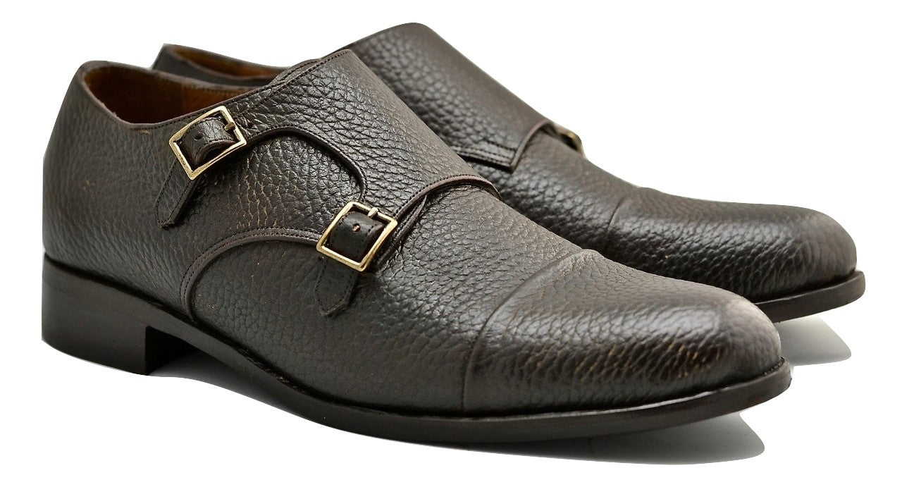 Double Monk  |  Choc pebble grain | calf