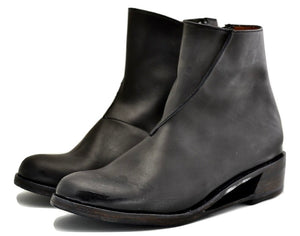 Zip back boot 2 |  Black calf