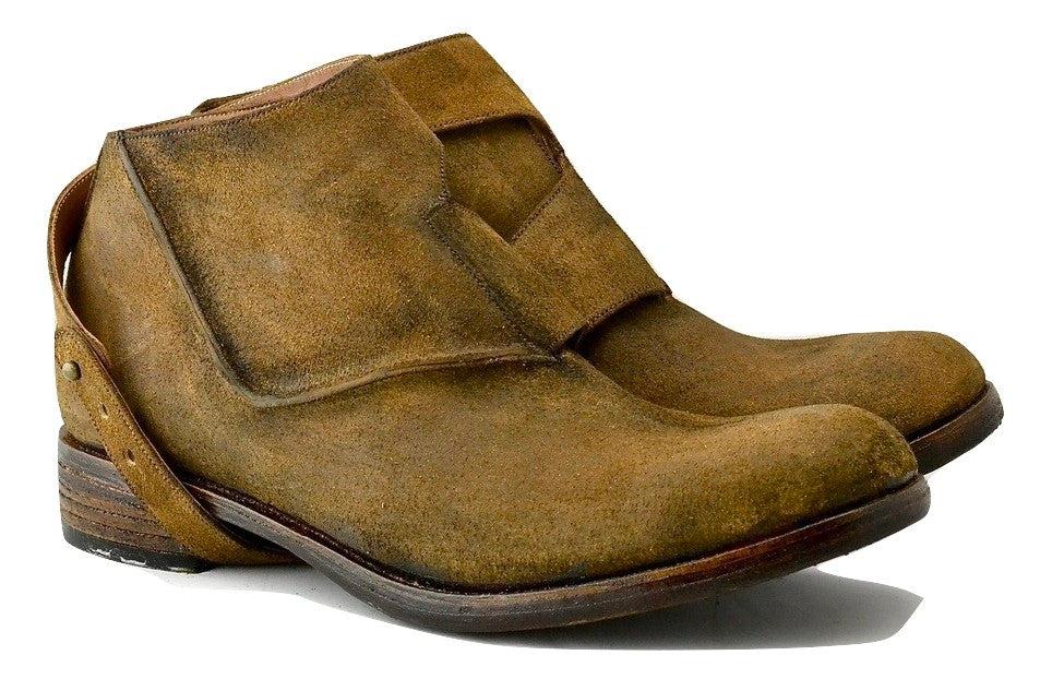 Straparound boot  |  brown rev culatta