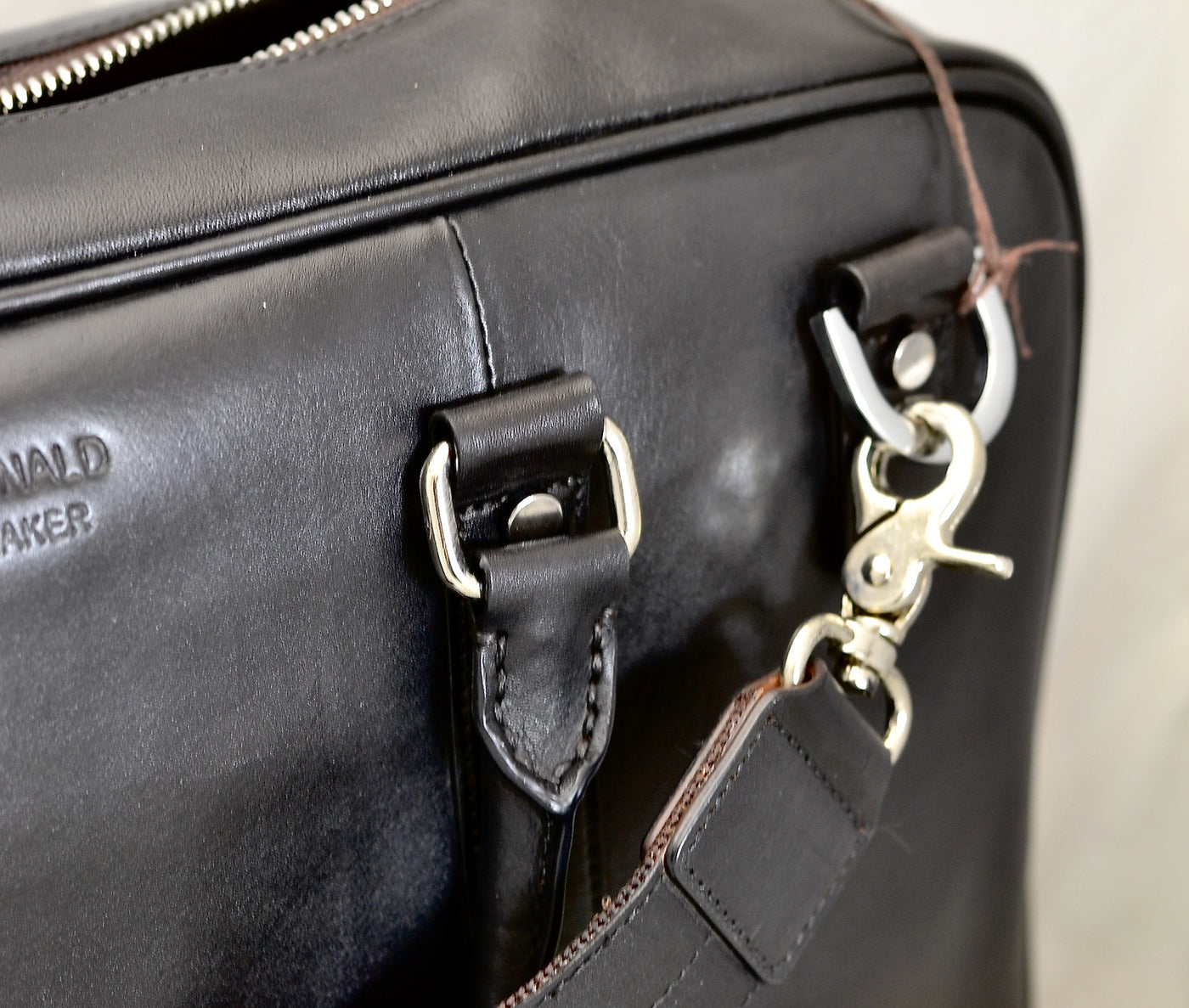 Briefcase | Black calf