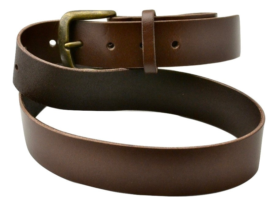 Belt | unstitched dark brown