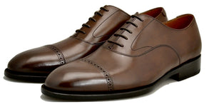 Oxford toecap brogue |  dark walnut  | Calf