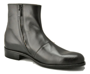 Zip Sided Boot  | black calf