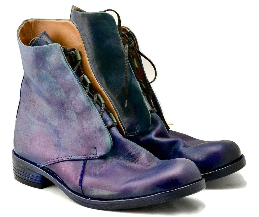 Derby Boot  |  electric blue calf
