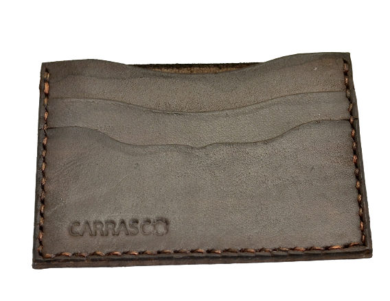 Card Wallet  |  3 slot dark brown calf