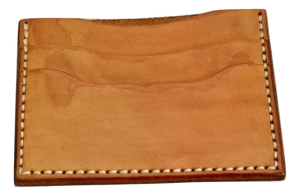 Card Wallet  |  3 slot tan calf