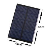 Mini 6V 0.6W Solar Panel Phone Charger