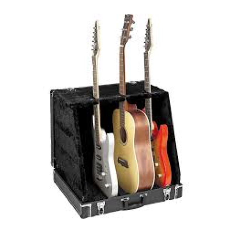 ApexTone AT-500MF Atril Case para 3 Guitarras Negro Atriles de Guitarra Apextone