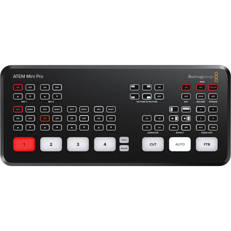 Blackmagic Design ATEM Mini PRO ISO Switcher USB Live Streaming para 4 Cámaras HDMI Switchers de Producción Blackmagic Design